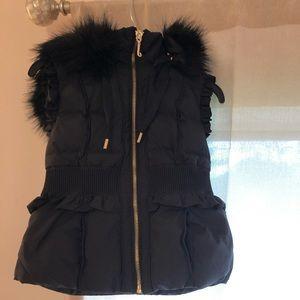 Juicy couture furry hood winter vest XS
